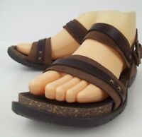 Timberland Womens Sandals 56307 US 7 M Brown Leather Ankle Strap Buckle 51