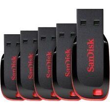 Lot of 5 SanDisk Cruzer Blade 8GB USB 2.0 Flash Drive- SDCZ50-008G-B35