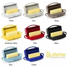 Butterie Flip Top Butter Dish For Countertop or Refrigerator, BPA Free, 8 Colors