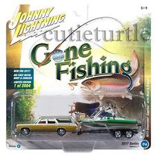Johnny Lightning 1973 Chevrolet Caprice 1/64 Gone Fishing JLBT002 36D B Silver