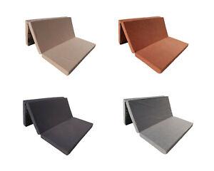 Colchón plegable de espuma cama invitados futon sillón adultos 180 x 120 x 8 cm