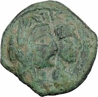 ARETAS IV & SHAQUILAT Arab Kingdom of Nabataea PETRA Ancient Greek Coin i46947