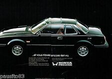 PUBLICITE ADVERTISING 126  1979   Honda  Prelude  (2 pages)