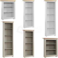 Arlington 3 4 5 Tier Bookcase Display Shelf Wood Storage Shelving Unit Furniture
