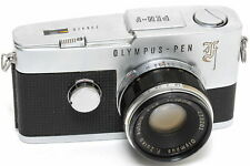 Vintage Olympus Pen-F film camera w. Zuiko Auto-S 1.8/38mm  nottestedNOT TESTED