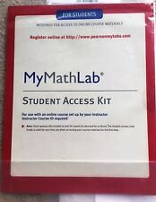MyMathLab Student Access Kit - New - Never Used 	ISBN: 9780321199911