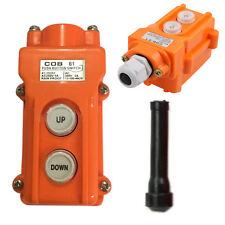 Crane Pendant Control Pushbutton Switch Hoist Station Up-Down Rainproof Button