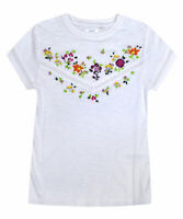 Girls NEXT Embroidery T-shirt Kids New 100% Cotton Summer Top Age 3 - 16 Years