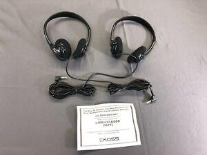 KOSS Visteon Headset 2 PAIR - NICE BASS headphones - BRAND NEW