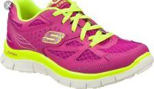 Skechers Skech Appeal Align Shoes Purple/Neon Yellow Girls Sz 11.5 (Damaged Box)