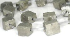 6-8MM PYRITE GEMSTONE ROUGH CUBE LOOSE BEADS 15.5""