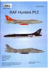 Blackbird Decals 1/72 RAF HUNTERS British Hawker Hunter Fighter Part 2