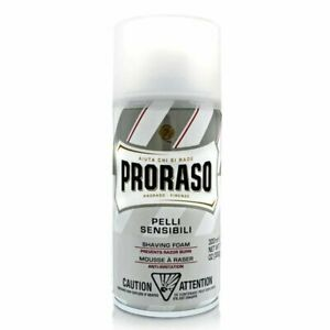 Proraso Shaving Foam for Men with Green Tea and Oat Extract Sensitive Formula