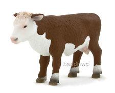 Mojo Fun 387068 Hereford Calf Standing - Realistic Farm Animal Toy Replica - NIP