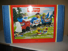 Fisher Price Little People Hooray Red Train Blue July 4th USA Musical White