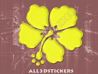 Pegatina Hibiscus 3D Relieve - Color Amarillo