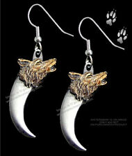 WOLVES - WOLF & BEAR CLAW EARRINGS - WESTERN WILDLIFE JEWELRY GIFT - FREE SHIP *