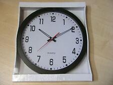 Esfera Blanca Reloj de pared plástico borde 25cm for Salón/ Cocina / dormitorio