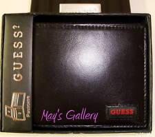 GUESS Jeans handbag Passcase Wallet BiFold lD Holder Faux Leather Men NIB