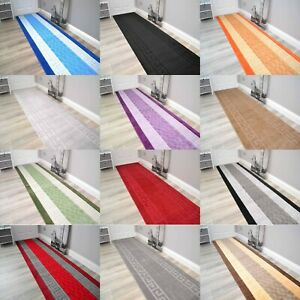 Large Long Short Rubber Back Washable Hall Hallway Non Slip Runner Rug Small Mat