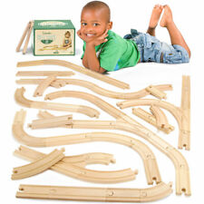 56-piece Bulk Value Wooden Train Track Pack