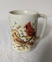 Vintage Otagiri Cardinal Ceramic Coffee Tea Mug Cup Japan Gift Bird EUC