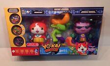 Yo-Kai Watch Jibanyan, Roughraff & Baddinyan Action Figure 3-Pack w Medals Yokai
