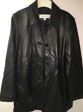 Men's Liz Claiborne Men's Leather Coat Size Medium