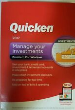 Quicken 2017 Manage your Investments, Premier for Windows Brand New