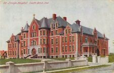 1910 St Joseph Hospital, South Bend, Indiana Postcard