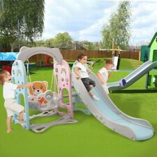 kindergarten Baby Kids Swing Slide Combination Playset Large Size Indoor Outdoor