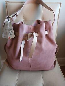 BNWT  Zara Leather/suede  Hobo Bag. RRP. £59.95