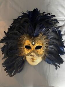 Vintage carnival / theatre mask wall hanging