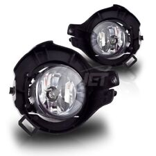 For Nissan Frontier Pathfinder Clear Lens Chrome Housing Fog Lights Lamps Pair