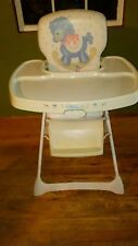 Vintage Graco Metal High Chair Padded Vinyl rocking horse with blocks