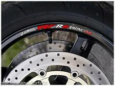 10x YZF R6 RACING WHEEL RIM STICKERS DECALS CHOICE OF COLORS