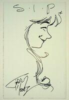 Terry Moore Sketch Original Art Francine Strangers in Paradise