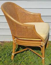 McGuire San Francisco Mid Century Modern Bamboo Rattan Cane Bentwood  Armchair