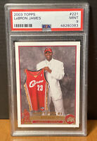 2003 Topps LeBron James Rookie RC #221 PSA 9 MINT Cavaliers #1 Pick Lakers