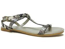 Cole Haan Women's Roccia Murley II Flat Sandals Snake Print Leather Size 5 B