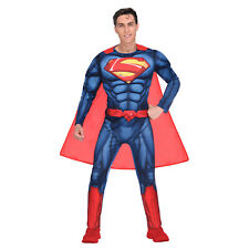 Amscan Adult Superman Classic Superhero Gents Fancy Dress Costume Size Large