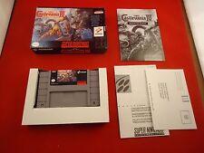 Super Castlevania 4 IV  (Super Nintendo SNES, 1991) COMPLETE w/ Box manual game