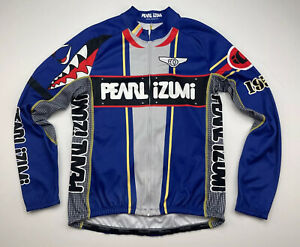 Pearl Izumi Mens Medium M Thermal Cycling Jersey Jacket Full Zip Long Sleeve