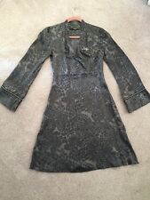 Liu Jo Silk Rhinestone Embellished Party Dress Classy & Unique Size 42 Grey