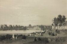 Grande estampe de Paris sous Louis XV côté arsenal en 1866 superbe