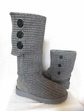 UGG~ CLASSIC CARDY Button Boots cuffable slouchy~Grey /Gray US 7/38 New #1016655