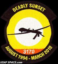 USAF 489th ATTACK SQUADRON -MQ-1 Predator DRONE- DEADLY SUNSET - ORIGINAL PATCH