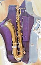 Old Vtg King Saxophone Baritone Made by HN White Company Gold Plated 90771