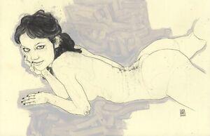 LOT 3X 11x17in Graphite - Nude Figure Leo Charre #HL74