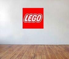 Lego Logo vinyl wall sticker decal for big small kids play room art storage box